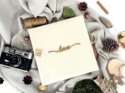 Tradycyjne, ręcznie oprawiane albumy na zdjęcia wklejane
